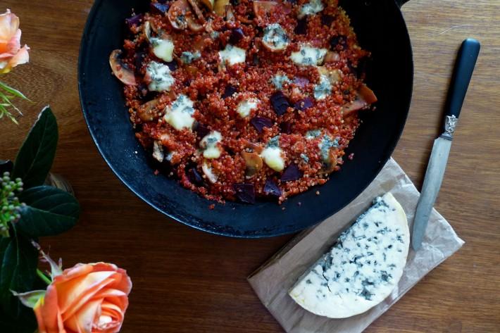 Quinoa aux champignons, betterave et fourme d'Ambert - 2